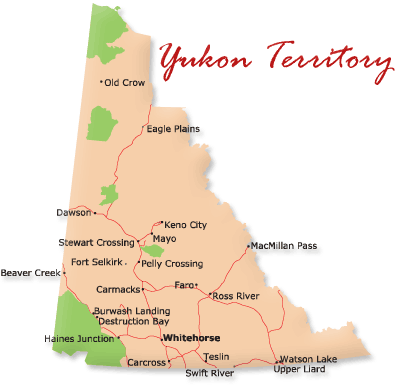 Map of Yukon Territory